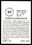 1976 SSPC #68  Charlie Hough  Back Thumbnail