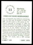 1976 SSPC #125  Enzo Hernandez  Back Thumbnail