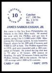 1976 SSPC #142  Jim Essian  Back Thumbnail