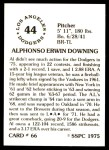 1976 SSPC #66  Al Downing  Back Thumbnail