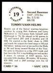 1976 SSPC #56  Tommy Helms  Back Thumbnail