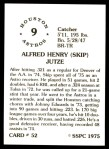 1976 SSPC #52  Skip Jutze  Back Thumbnail