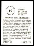 1976 SSPC #10  Rod Gilbreath  Back Thumbnail