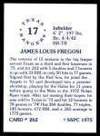 1976 SSPC #262  Jim Fregosi  Back Thumbnail
