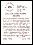 1976 SSPC #371  Gates Brown  Back Thumbnail