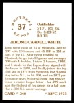 1976 SSPC #340  Jerry White  Back Thumbnail