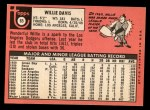 1969 Topps #65  Willie Davis  Back Thumbnail
