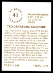 1976 SSPC #284  Ted Sizemore  Back Thumbnail
