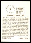 1976 SSPC #271  Joe Lovitto  Back Thumbnail