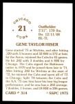 1976 SSPC #314  Gene Hiser  Back Thumbnail