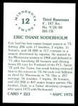 1976 SSPC #223  Eric Soderholm  Back Thumbnail