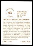1976 SSPC #293  Mike Garman  Back Thumbnail