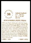 1976 SSPC #331  Pepe Frias  Back Thumbnail