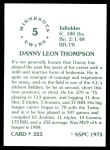 1976 SSPC #225  Danny Thompson  Back Thumbnail