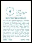 1976 SSPC #622  Dick Sisler  Back Thumbnail