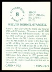1976 SSPC #573  Willie Stargell  Back Thumbnail