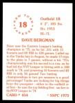 1976 SSPC #454  Dave Bergman  Back Thumbnail
