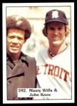 1976 SSPC #592  Maury Wills / John Knox  Front Thumbnail