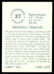 1976 SSPC #561  Kent Tekulve  Back Thumbnail