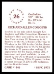 1976 SSPC #446  Rich Coggins  Back Thumbnail