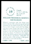 1976 SSPC #598  Whitey Wietelmann  Back Thumbnail
