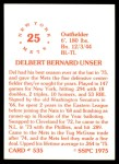 1976 SSPC #535  Del Unser  Back Thumbnail