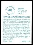 1976 SSPC #586  Danny Murtaugh  Back Thumbnail