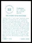1976 SSPC #574  Richie Zisk  Back Thumbnail
