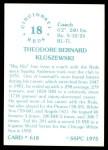 1976 SSPC #618  Ted Kluszewski  Back Thumbnail