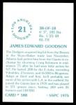 1976 SSPC #588  Ed Goodson  Back Thumbnail