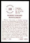 1976 SSPC #414  Bob Montgomery  Back Thumbnail
