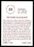 1976 SSPC #444  Rich Bladt  Back Thumbnail