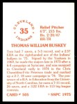 1976 SSPC #505  Tom Buskey  Back Thumbnail