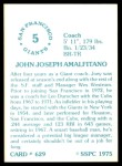1976 SSPC #629  Joe Amalfitano  Back Thumbnail