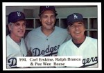 1976 SSPC #594   -  Ralph Branca / Carl Erskine / Pee Wee Reese Checklist 6 Front Thumbnail