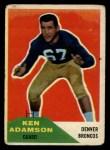 1960 Fleer #33  Ken Adamson  Front Thumbnail