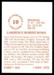 1976 SSPC #464  Larry Bowa  Back Thumbnail