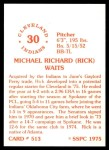 1976 SSPC #513  Rick Waits  Back Thumbnail