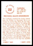 1976 SSPC #469  Mike Anderson  Back Thumbnail