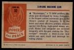 1954 Bowman Power for Peace #32   3-In-One Machine Gun Back Thumbnail