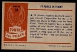 1954 Bowman Power for Peace #34   FJ Furies in Flight Back Thumbnail