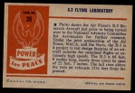 1954 Bowman Power for Peace #35   X-3 Flying Laboratory Back Thumbnail