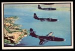 1954 Bowman Power for Peace #38   Phantom Jets Over Fort El Morro Front Thumbnail