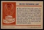 1954 Bowman Power for Peace #4   One-Eyed Photographic Giant Back Thumbnail