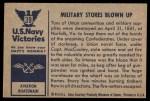 1954 Bowman U.S. Navy Victories #39   Military Stores Blown Up Back Thumbnail