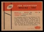 1960 Fleer #105  Joe Schaffer  Back Thumbnail