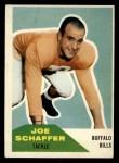 1960 Fleer #105  Joe Schaffer  Front Thumbnail