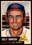 1953 Topps #21  Billy Johnson  Front Thumbnail