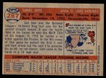 1957 Topps #287  Sam Jones  Back Thumbnail