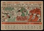 1956 Topps #192  Smoky Burgess  Back Thumbnail